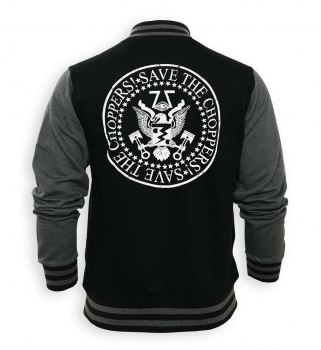 Save The Choppers! College-Jacke schwarz-grau
