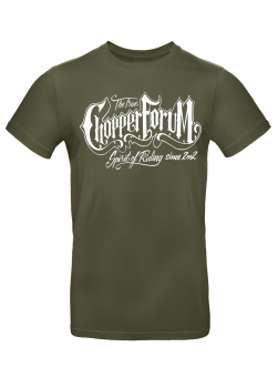 Chopperforum T-Shirt – True Spirit Of Riding – Khaki