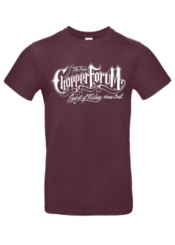 Chopperforum T-Shirt – True Spirit Of Riding – Burgundy