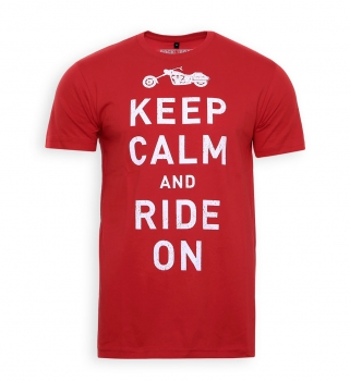 Keep calm and ride on – T-Shirt