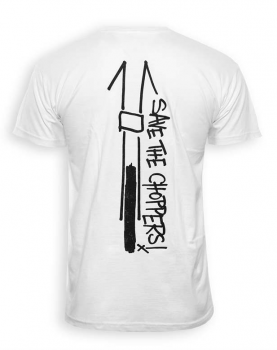 Save The Choppers! Scribble – T-Shirt Weiß
