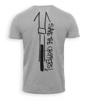 Save The Choppers! Scribble – T-Shirt Grau