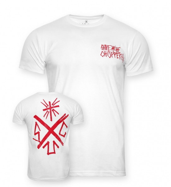 Save The Choppers! Cross – T-Shirt Weiss