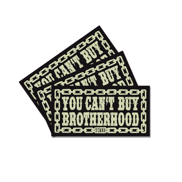 3er-Sticker-Set You can't buy brotherhood
